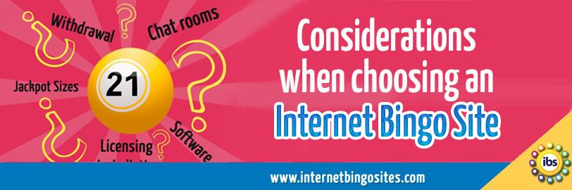 Considerations when choosing an internet bingo site