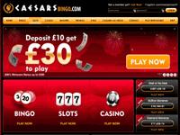 Bingo Caesars Home Page