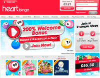 heart bingo home page