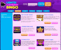 lights camera bingo promotion page