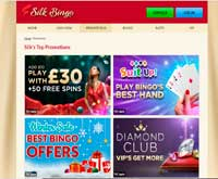 silk bingo promotions screenshot