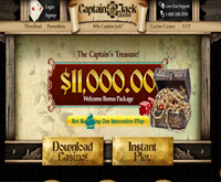 Captain Jack Casino Welcome Bonus