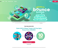 Bounce Bingo Homepage