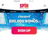 Spin Casino Homepage