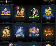 crypto slots casino lobby