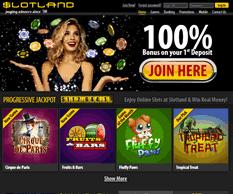 Slotland Casino Homepage