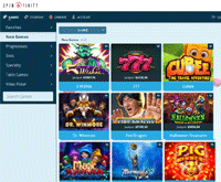 Spinfinity Casino Games
