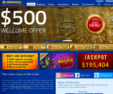 winaday casino homepage