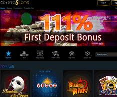 Crypto Slots Homepage