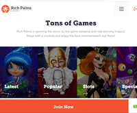 Rich Palms Casino Home page
