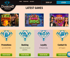 Diamond Reels Casino Homepage