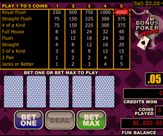 Diamond Reels Video Poker