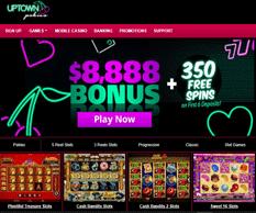 Uptown Pokies Casino Homepage