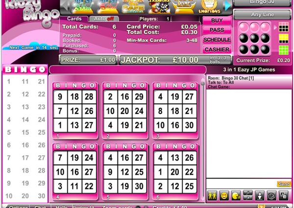 30 ball bingo game