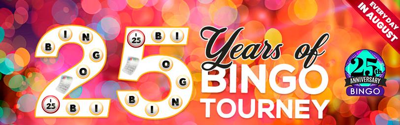 Cyberbingo 25 years bingo tourney